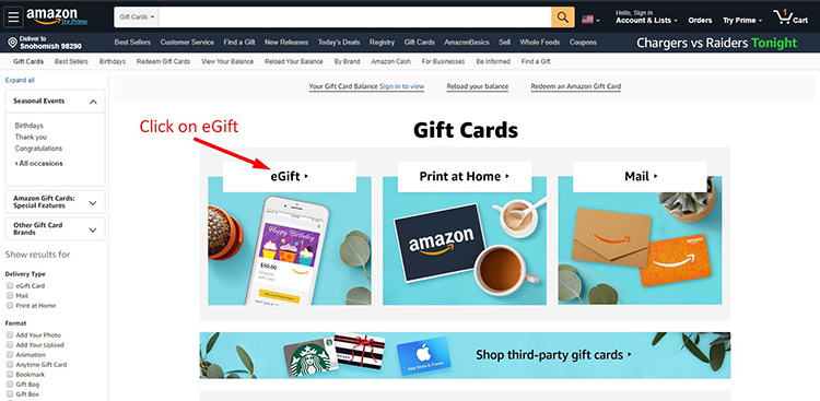 Amazon Gift Card Payment